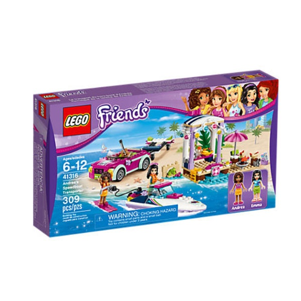 Lego 41316 Friends Andreas Rennboot-Transporter