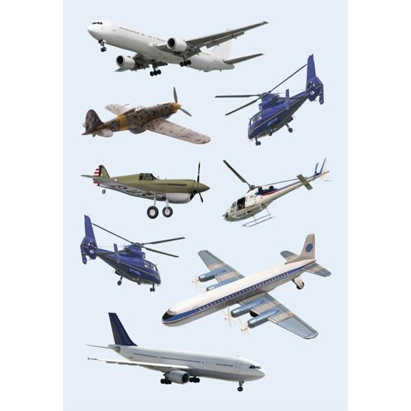 Herma Schmucketikett Decor Flugzeuge