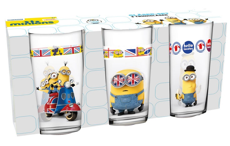 Minions Gläser-Set 3er  British