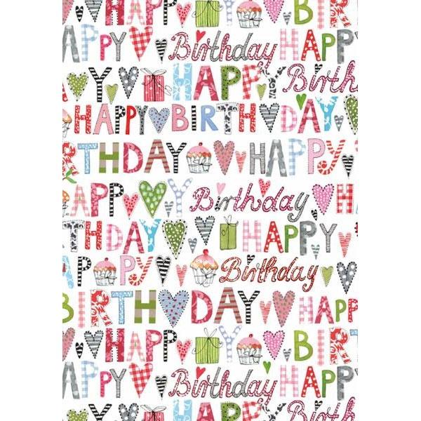 Geschenkpapier Svea Happy Birthday
