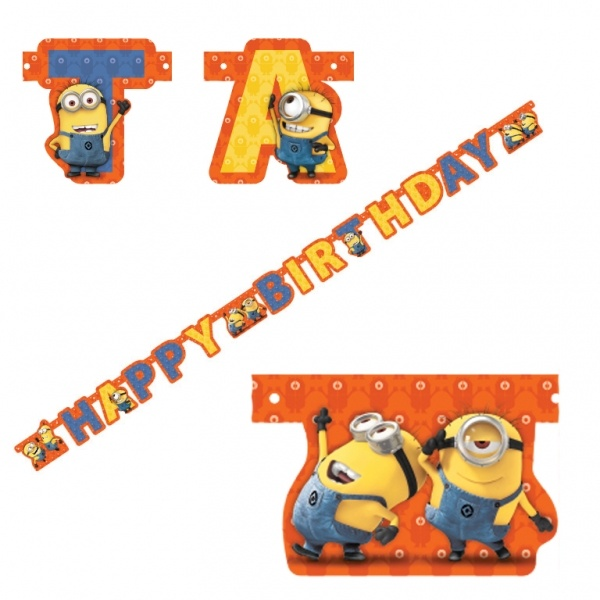 Minions Partykette Happy Birthday