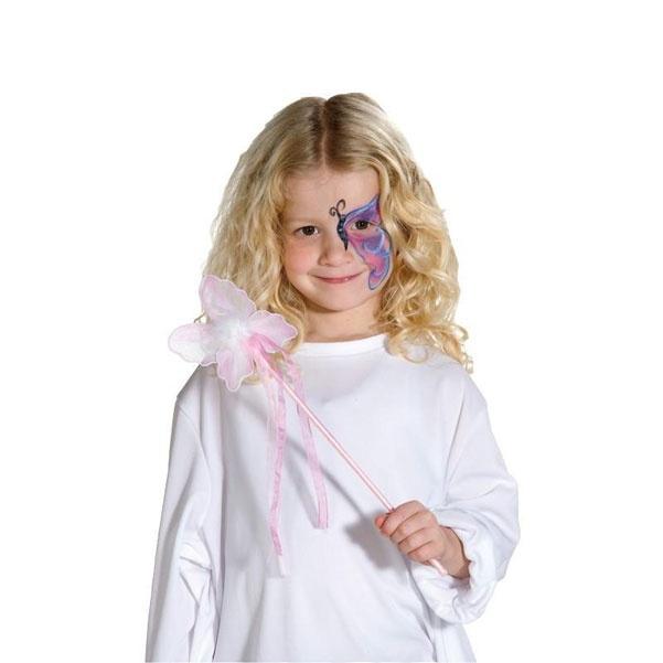Kostüm-Zubehör Elfenstab Schmetterling pink 35cm
