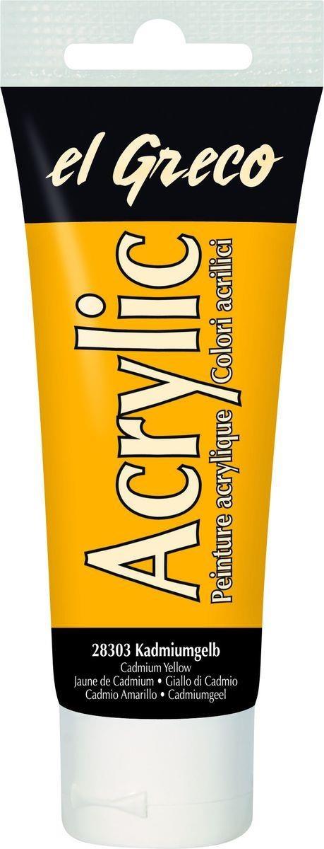 El greco Acrylic Acrylfarbe Kadmiumgelb 75 ml