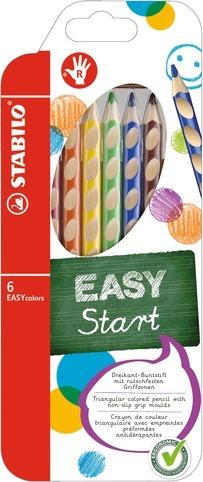 Stabilo EASYcolors Farbstifte für Rechtshänder 6 Stück