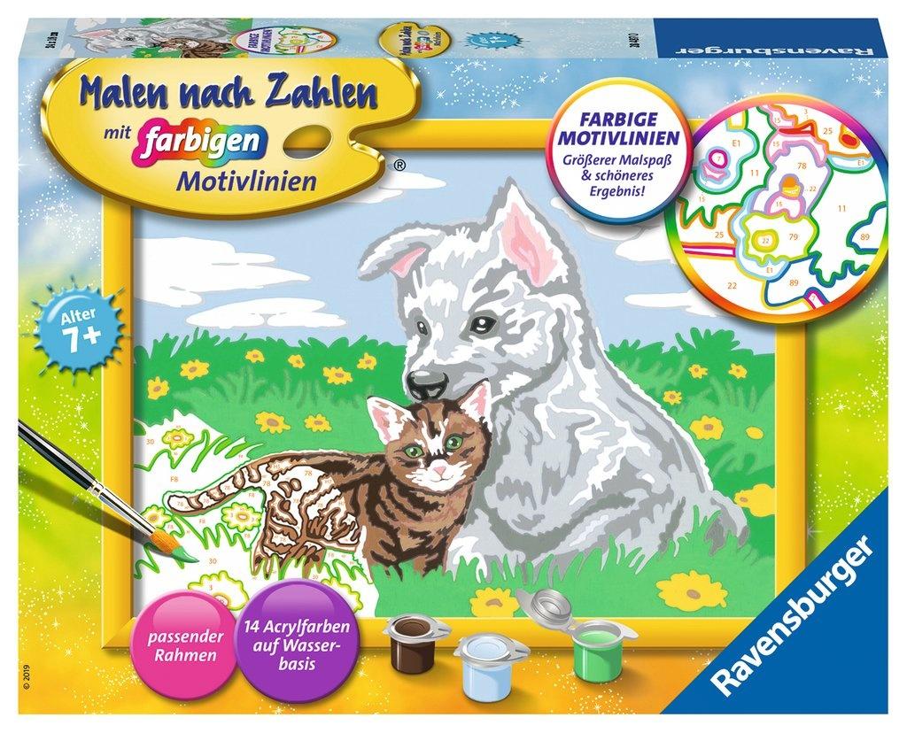 Ravensburger Malen nach Zahlen Süße Tierkinder