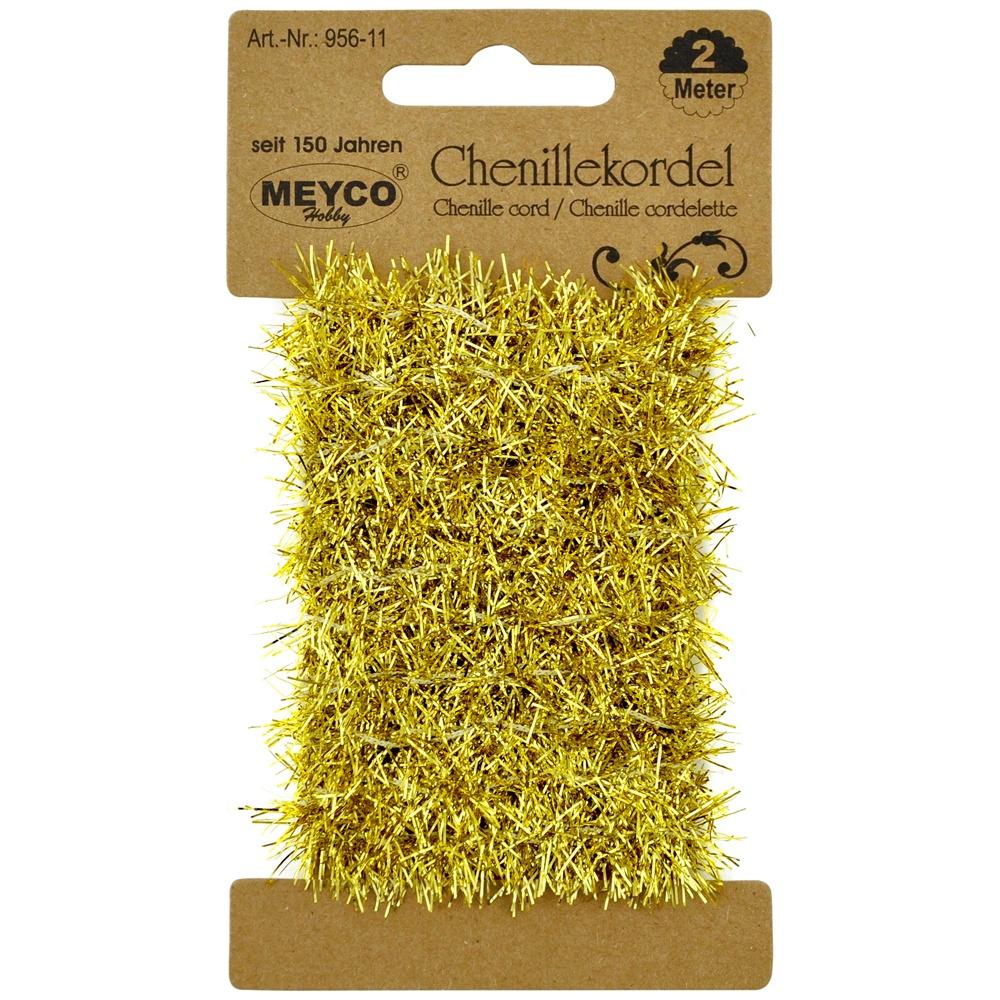 Bastelmaterial Chenillekordel metallic gold