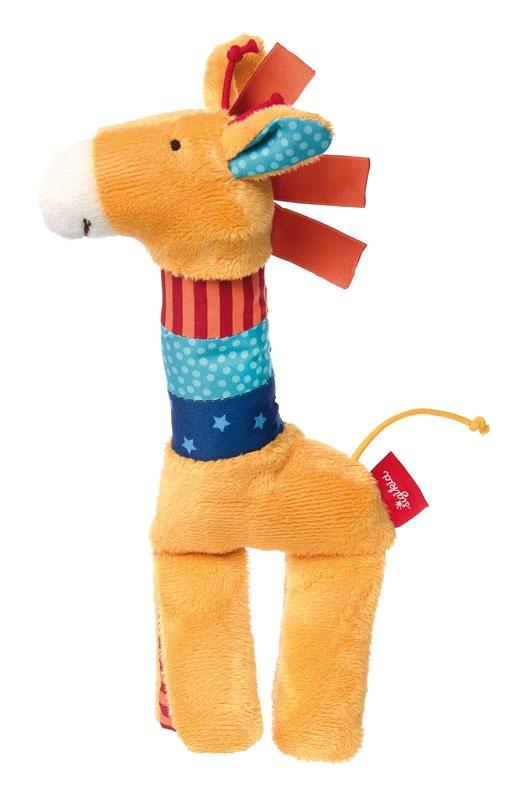 Sigikid PlayQ Quietsch Greifling Giraffe