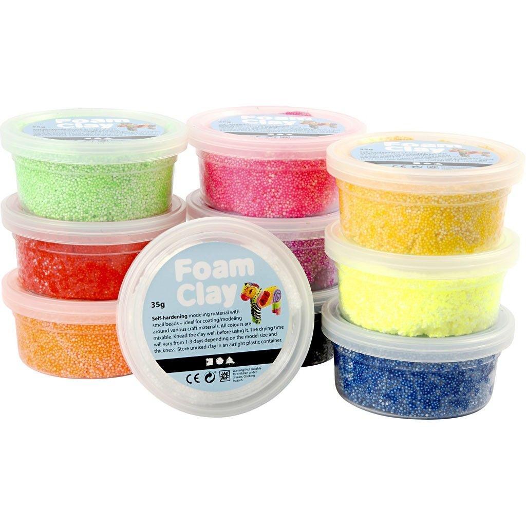 Foam Clay 10 x 35g  10 Farben