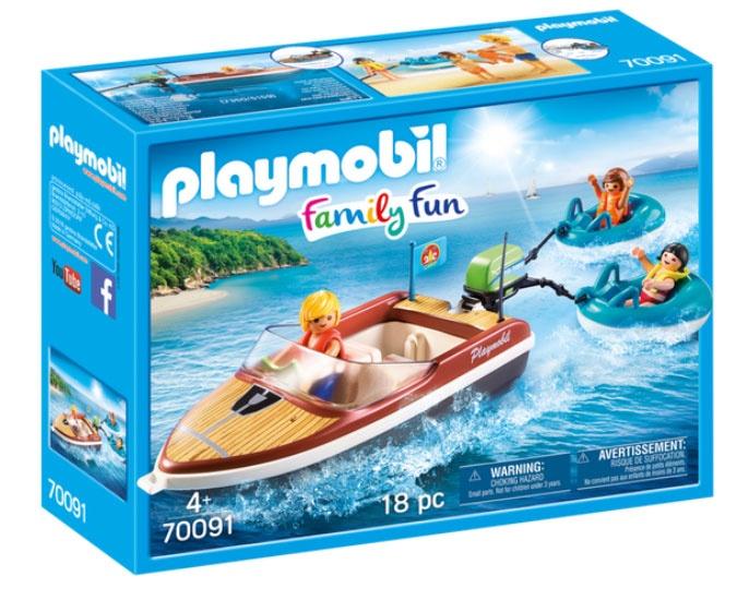 Playmobil 70091 Family Fun Sportboot mit Fun-Reifen