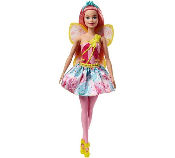 Barbie Dreamtopia Fee-Puppe BonBon pinke Haare FJC88
