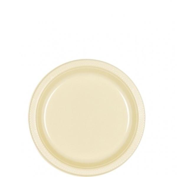Parytteller Kunststoff 10 Stück  vanilla creme