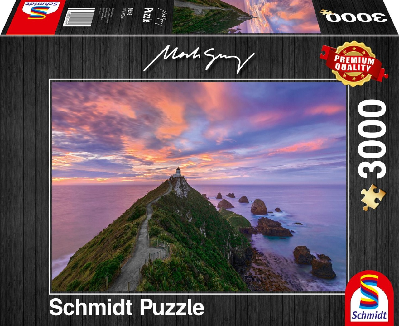 Schmidt Spiele Puzzle Mark Gray Nugget Point Lighthouse