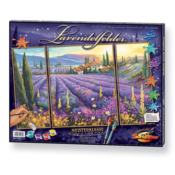 Schipper Malen nach Zahlen  Lavendelfelder Triptychon