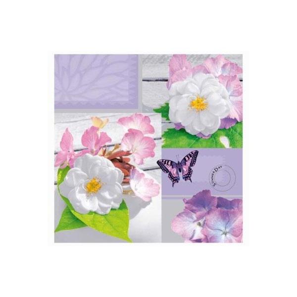 Servietten Bright Summer Day lilac 33x33