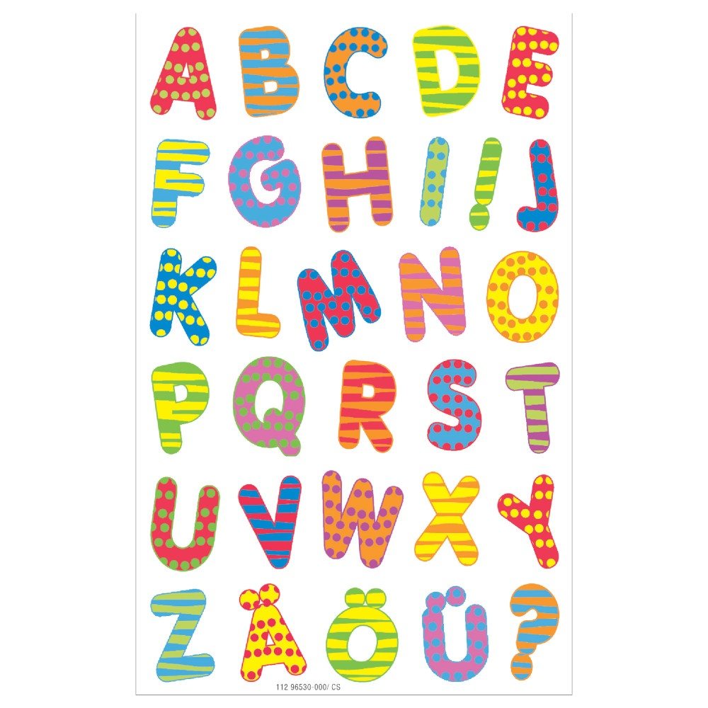 Etiketten Buchstaben, bunt