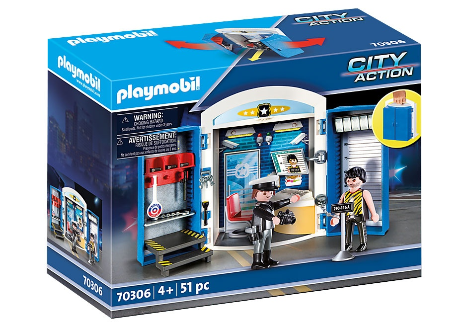 Playmobil 70306 Spielbox in der Polizeistation