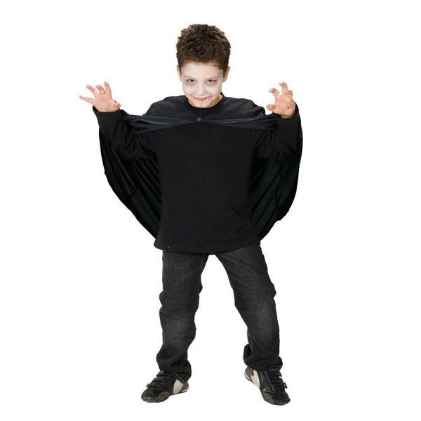 Kostüm Umhang schwarz 128