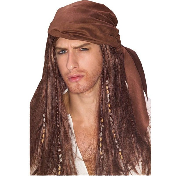 Kostüm-Zubehör Perücke Caribbean Pirate braun