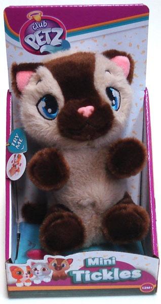 Mini Tickles Katze grau/braun
