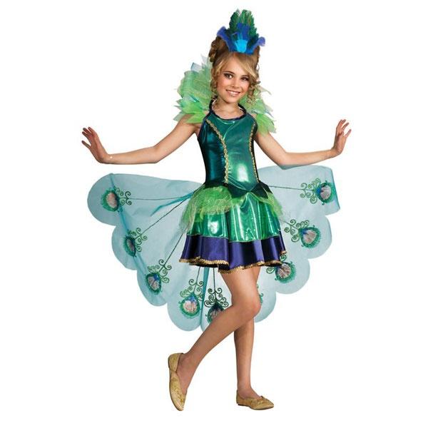 Kostüm Peacock (Pfau) M 5-7 Jahre