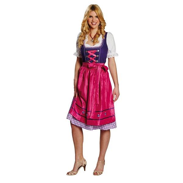 Kostüm Dirndl lila pink 44