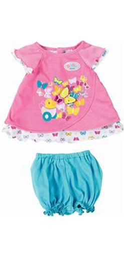 Baby born Babykleidchen Schmetterlinge, rosa