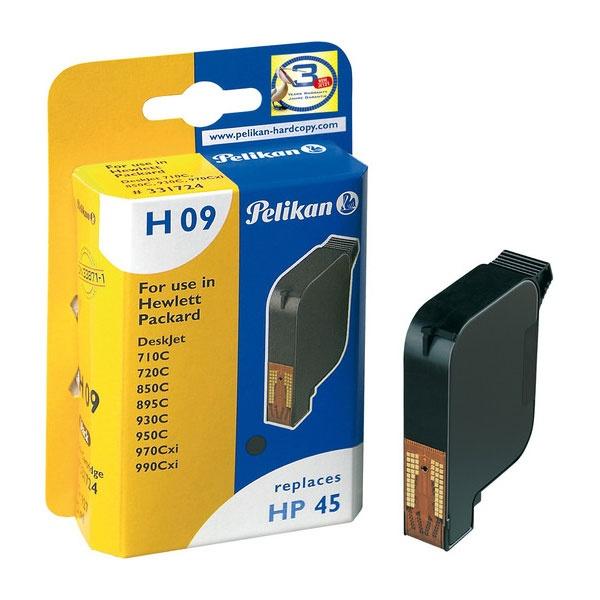 Pelikan 927 schwarz H 09 ersetzt HP 45 Druckerpatrone