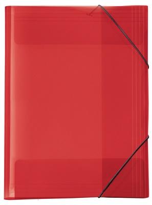 Veloflex Crystal Sammelmappe A3 transparent rot