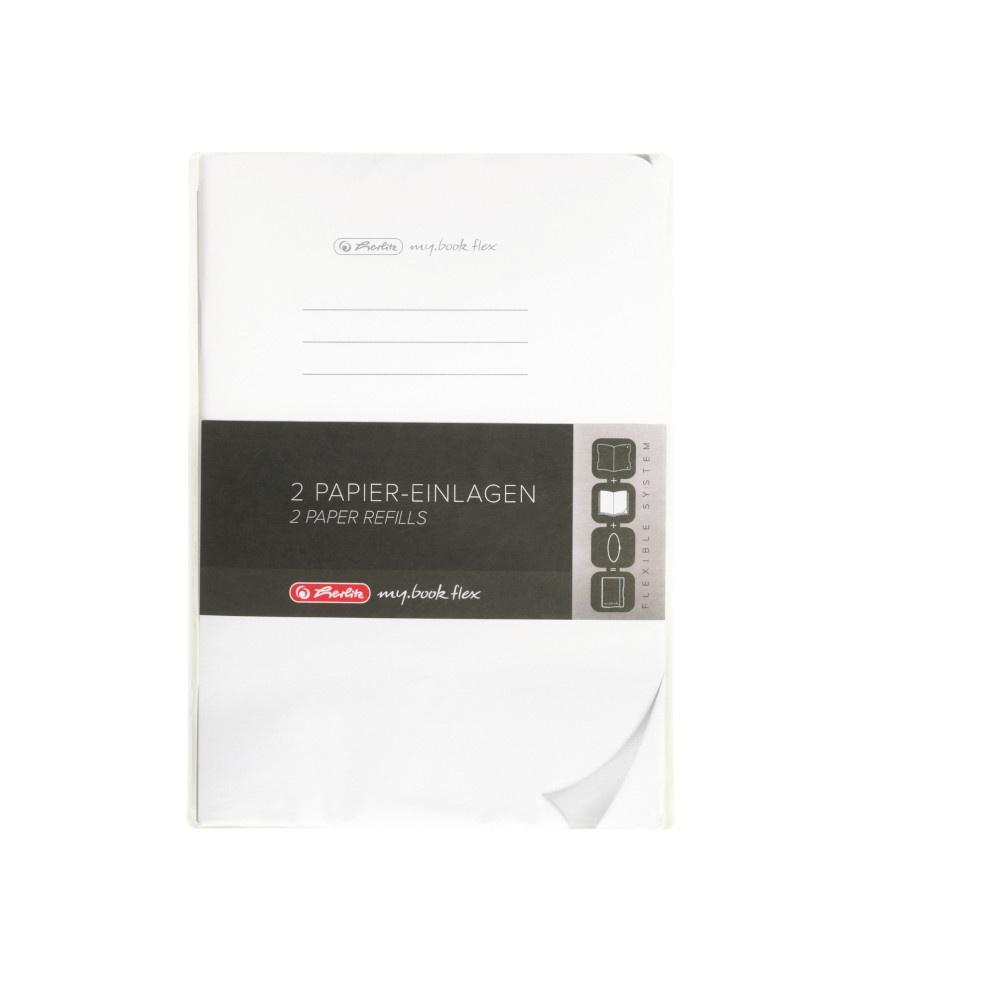 Herlitz Papiereinlagen A5 Refill flex blanko