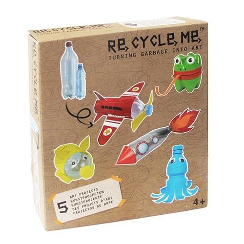 Re-Cycle-Me Bastelbox Basteln mit PET-Flasche für Jungen