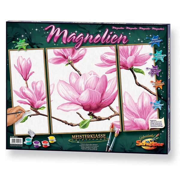Schipper Malen nach Zahlen Magnolien (Triptychon)
