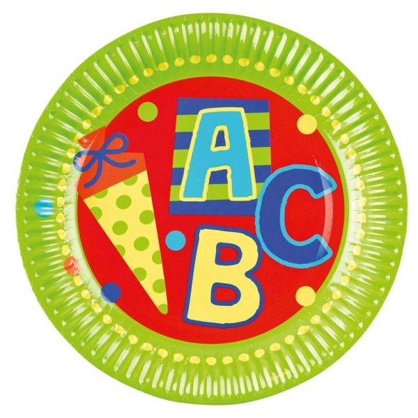 ABC Schulanfang Partyteller