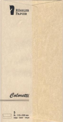 Coloretti Briefumschläge DL DIN lang sahara braun