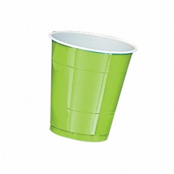Parytbecher Kunststoff 10 Stück kiwi grün