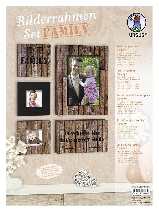 Bastelmappe Bilderrahmen Set FAMILY