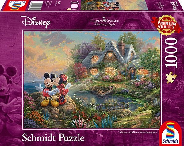 Schmidt Spiele Puzzle Thomas Kinkade Disney Sweethearts