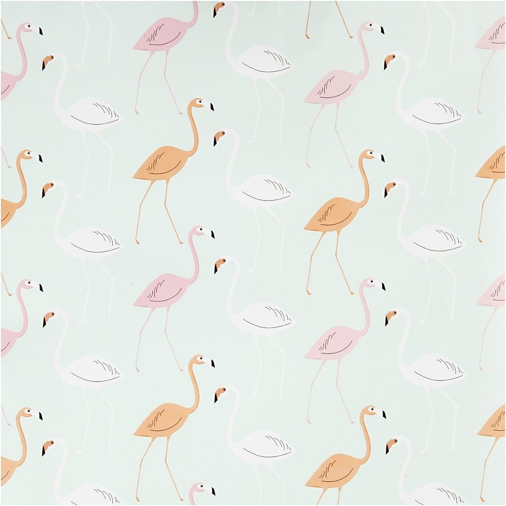 Geschenkpapier Flamingos