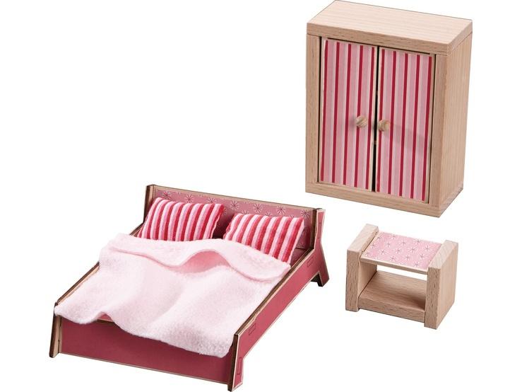 Haba Little Friends Puppenhaus-Möbel Schlafzimmer