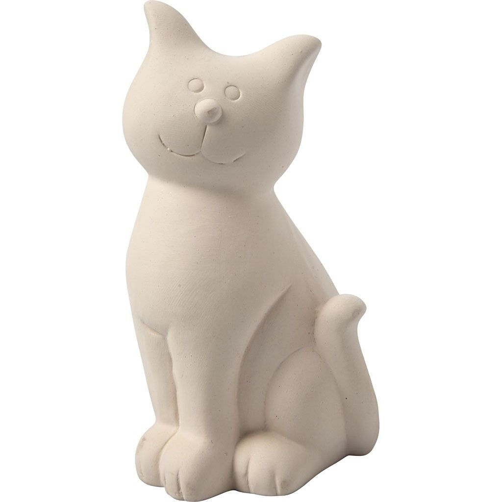 Spardose Katze 14 cm zum Bemalen