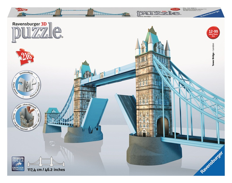 Ravensburger Puzzle 3D Tower Bridge London 216 Teile