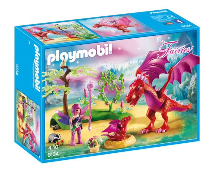 Playmobil 9134 Fairies Drachenmama mit Baby