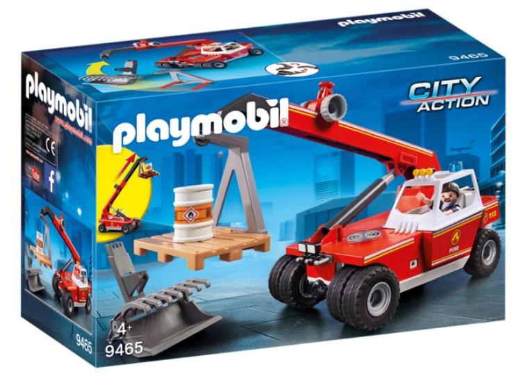 Playmobil 9465 City Action Feuerwehr-Teleskoplader