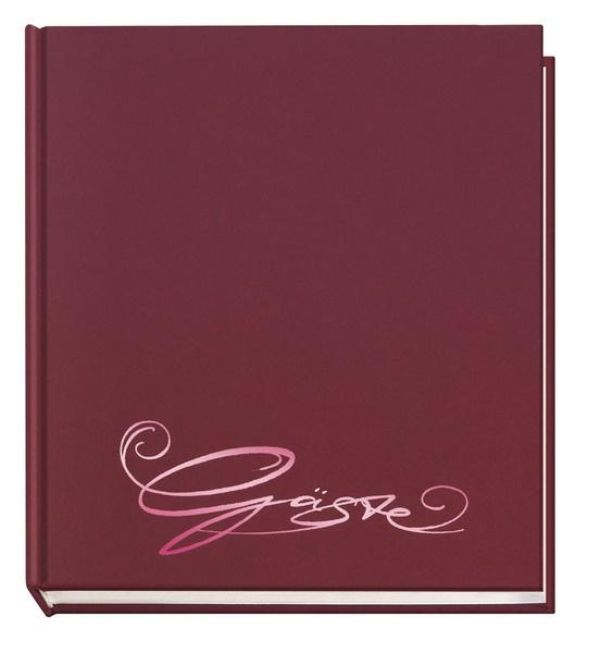 Gästebuch Classic aubergine mit Prägung