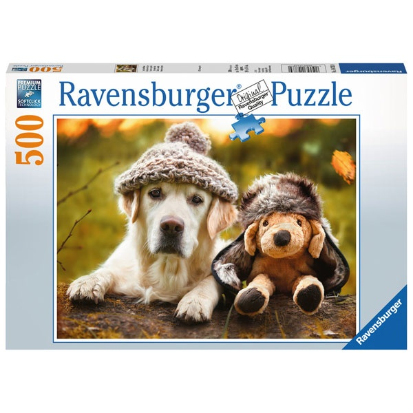 Puzzle Hund mit Mütze 500 Teile von Ravensburger