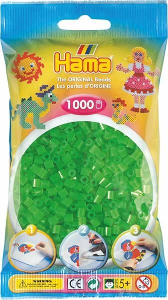 Hama Bügelperlen 1000 Stück neon-grün