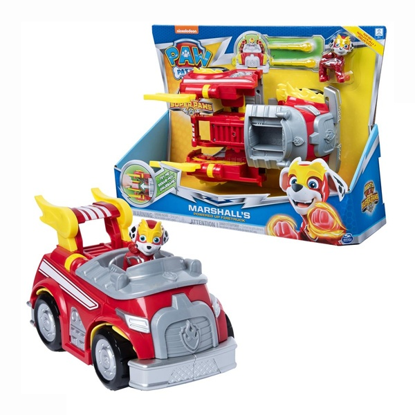 Paw Patrol Mighty Pups Changing Marshalls Powered Firetruck