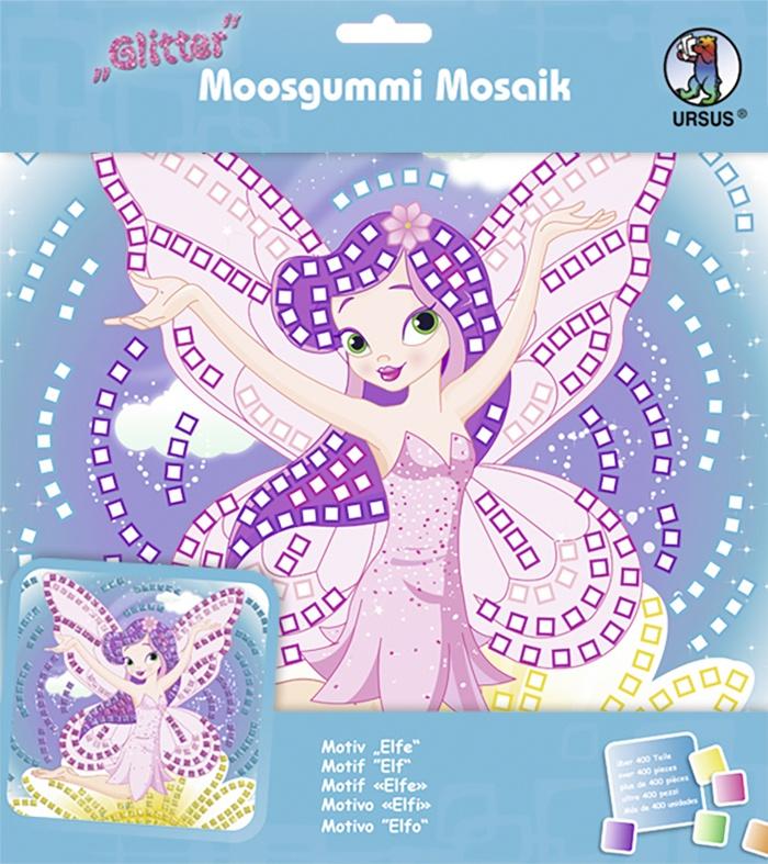 Moosgummi Mosaik Glitter Elfe