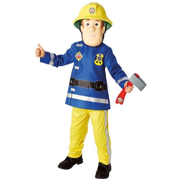 Kostüm Feuerwehrmann Sam Deluxe S 3-4 Jahre