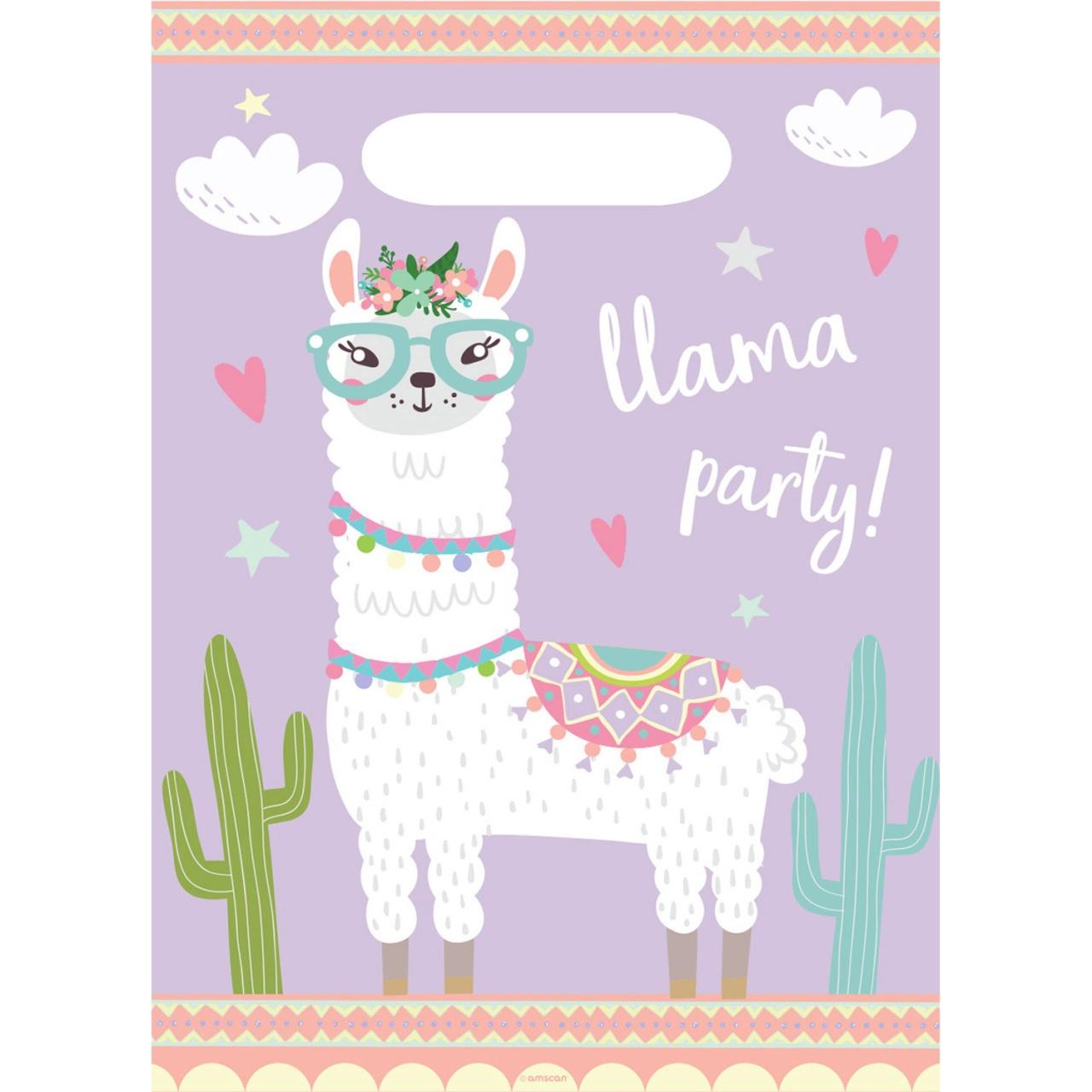 Partytüten Llama 8 Stück Lama
