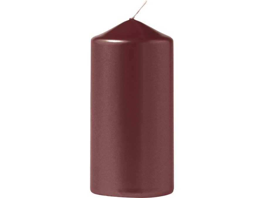 Eika Stumpenkerze metallic burgunder 110/60